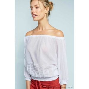 Anthropologie Wolven White Top